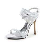 Satin Stiletto Heel Slingbacks Sandals Wedding Shoes