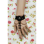 Handmade Black Lace Princess Lolita Bracelet and Ring Set