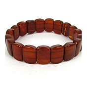 Red Agate Elastic Ladies' Strand Bracelet