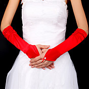 Satin Bridal Fingerless Elbow Length Gloves (More Colors Available)