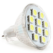 MR11 5050 SMD 10-LED White 100-120LM Light Bulb (12V, 1.5-2W)