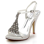 Satin Stiletto Heel Sandals Honeymoon / Wedding Shoes With Rhinestone (More Colors)