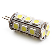 G4 18x5050 SMD 2-2.5W 180-200LM 6000-6500K Natural White Light LED Corn Bulb (12V)