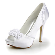 LISA - Pumps Hochzeit Pfennigabsatz Satin