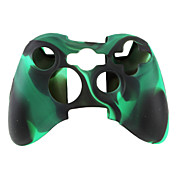beschermende dual-color siliconen case voor de Xbox 360 controller (zwart en groen)