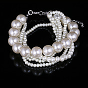 Fashion Ladies' Multilayer Thin Imitation Pearl Bracelet