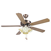 Wooden Hugger Ceiling Fan with 4 Lights Anodizing Finish