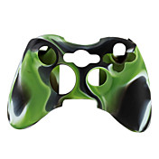 beschermende dual-color siliconen case voor de Xbox 360 controller (groen en zwart)