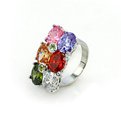 Big Cubic Zirconia Fashion Ring With 18K Gold Platted(More Colors)