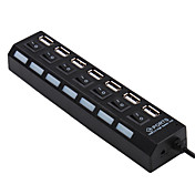 7-ports USB 2,0 high speed nav (sort)