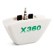 Dual Headset Headphone Microphone Converter for Xbox 360 (White)