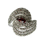 18K Gold Platted & Beautiful AAA Level Cubic Zirconia Ladie's Fashion Ring