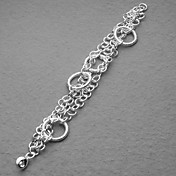 Fashion Silver Plated Some Dull Polish Circle Women's Bracelet