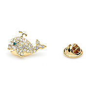 Gorgeous Alloy With Rhinestones Fish Brooch