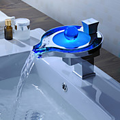 Sprinkle® - ved lightinthebox - fargeendringen ledet fossen bathroom sink tappekran (unik design)