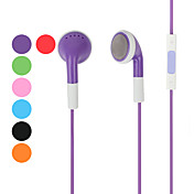 Colorful Stereo Earphone Headphone with Volume Control and Microphone for iPhone 5 & iPhone 4/4S