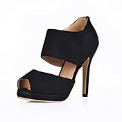 Suede Stiletto Heel Peep Toe Pumps / Sandals Party / Evening Shoes (More Colors)