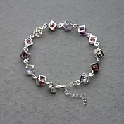 Gorgeous Silver Plated Colorfull Crystal Women's Bracelet