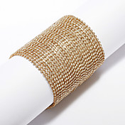 Elegant Gold Alloy With Shining Rhinestone Women's Braclet