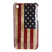 USA Flag Pattern Hard Case for iPhone 3G and 3GS (Multi-Color)