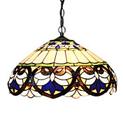 2 - Light Tiffany Pendant Lights with Heart Pattern
