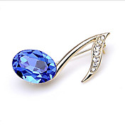 Gorgeous Alloy With Blue Crystal Brooch