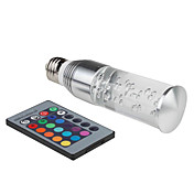 E27 3W RGB Light Remote Controlled Acrylic Crystal LED Candle Bulb (85-265V)