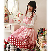 Little Red ærmer Knælang Cotton Sød Lolita Kjole