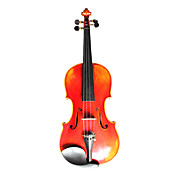 Violintine - (V23) 4/4 Professional-Grade Solid Spruce & 1-Piece Flame Maple Violin with Case/Bow