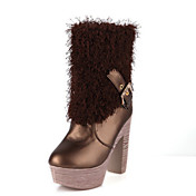 Leatherette Chunky Heel Ankle Boots Party/Evening Shoes (More Colors)