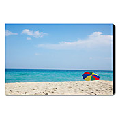 Printed Landscape Coastal and Beach Canvas Art with Stretched Frame 20&quot; x 24&quot;