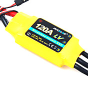 flycolor 120a 6s esc de avio com motor brushless (cores aleatrias)