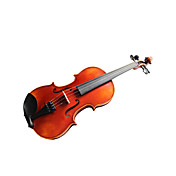 Violintine - (V22) 3/4 Professional-Grade Solid Spruce & 1-Piece Flame Maple Violin with Case/Bow