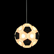 60W artistieke hanglamp met 1 Licht in Ball Design