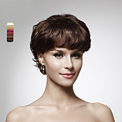Capless 100% Human Hair Short Curly Hair Wig 5 Colors To Choose