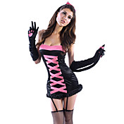 Sexy Cat Woman Pink Halloween Costume