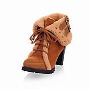eautiful Suede Chunky Heel Ankle Boots With Lace-up Party/Evening Shoes (More Colors)