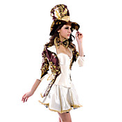 Sexy Dame Magician / Mad Hatter Halloween kostume (6 Pieces)