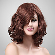 Capless 100% human hair medium lang krullend haar pruik
