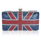 Metal con Encanto Union Jack Patrn bolso de noche / Embragues (ms colores)