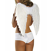Sexy Women White Feather Angel Wings(1 Pieces)