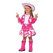 Cute Giddy up Cowgirl Pink Halloween Costume  (2-4 YRS)