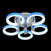 Comtemporary Acrylic Pendant Lights with 3 Lights in 5 Rings Design