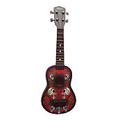 (Crossbones) Basswood Soprano Ukulele med Bag / String / Picks