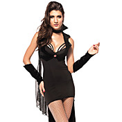 Kvinners Sexy Black Night Vampire Halloween Costumes