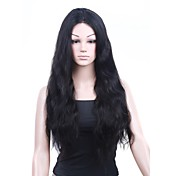 Mono Top With Stretch Lace At Back Indian Remy Hair 22 Inch Body Wave Fully Hand-tied Wigs