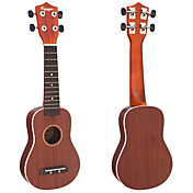 caoba ukelele soprano con funda / correa