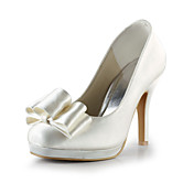 Satin Stiletto Heel Closed Toe / Pumps With Bowknot Party/Evening Shoes (More Colors)