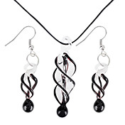 Coloured Glaze Spiral Vaidurya collier et boucles d'oreilles des femmes
