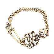 Fabulous Alloy With Skeleton Head Women's Bracelet (More Colors)